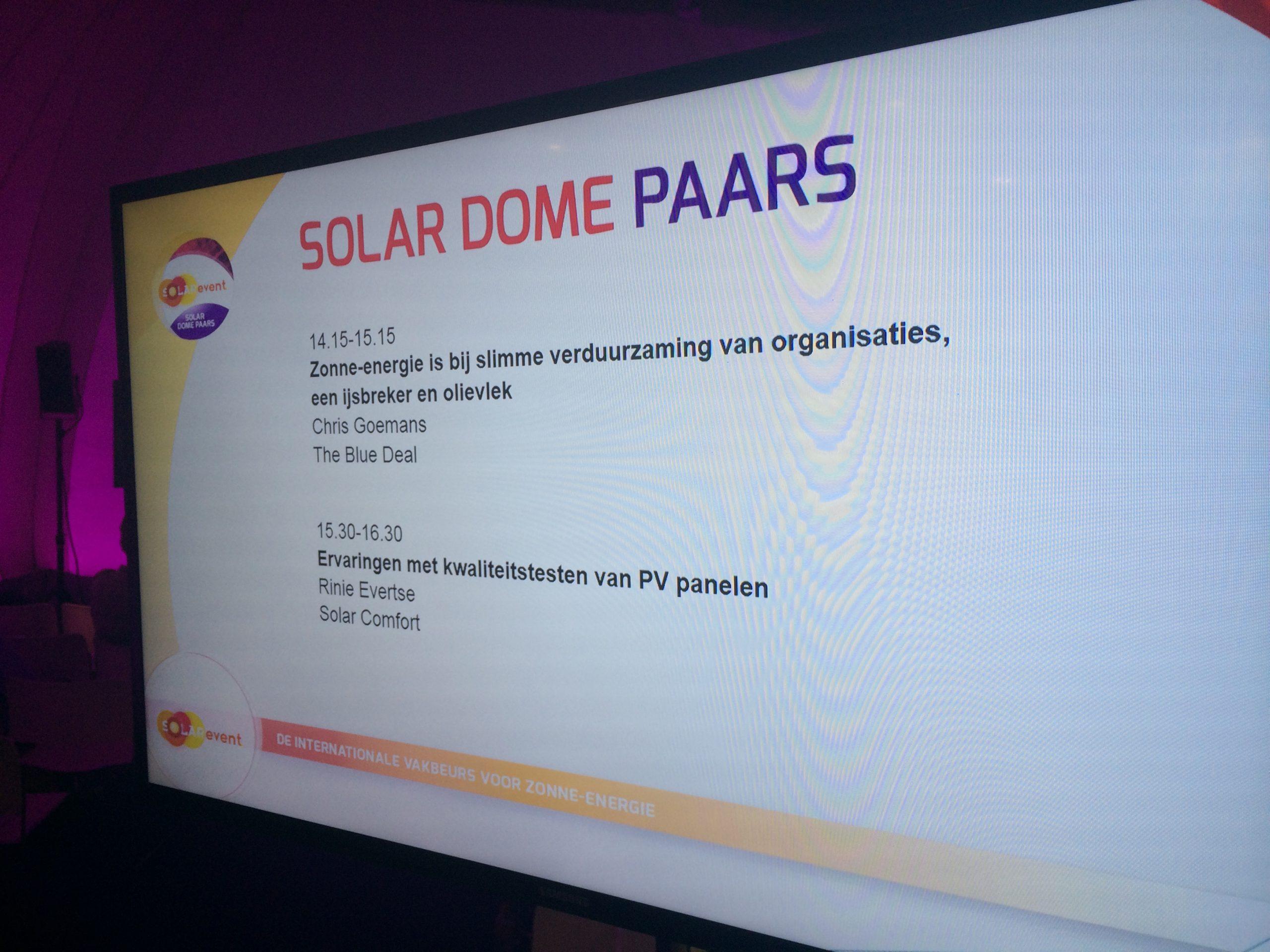 Presentatie Rinie Evertse over het testen van zonnepanelen van SolarComfort